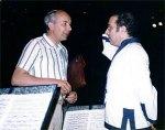 Hartmut Schmidt und Lawrence Foster bei der Probe in Monte Carlo