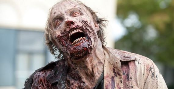 A walking dead person in The Walking Dead 570x294 Full The Walking Dead Marathon to Begin on Independence Day