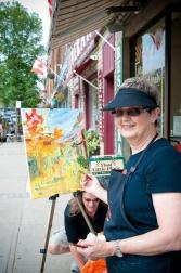 Lynda at Plein Air in Huntsville July 11