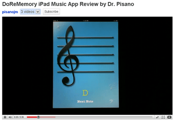 DoReMemory Ipad Music Application