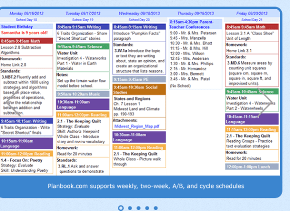 PlanBook.com – Organizing My Lessons Efficiently