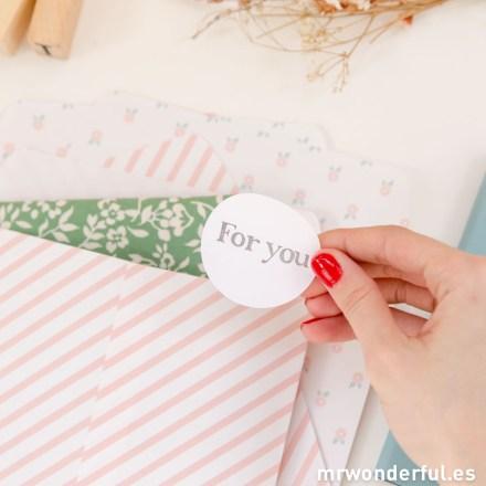 Mr.Wonderful bolsas de papel estampadas pink ribbon