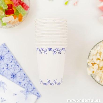 Mr.Wonderful set de vasos de papel estampado