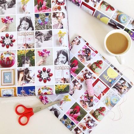 Las fotos de tu instagram convertidas en papel para envolver. Un regalo más personalizado, imposible.