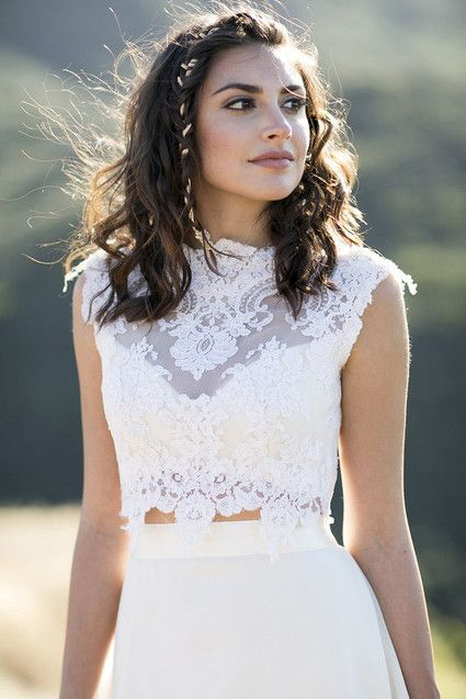 Vestido de novia en dos piezas. Yes, I do.