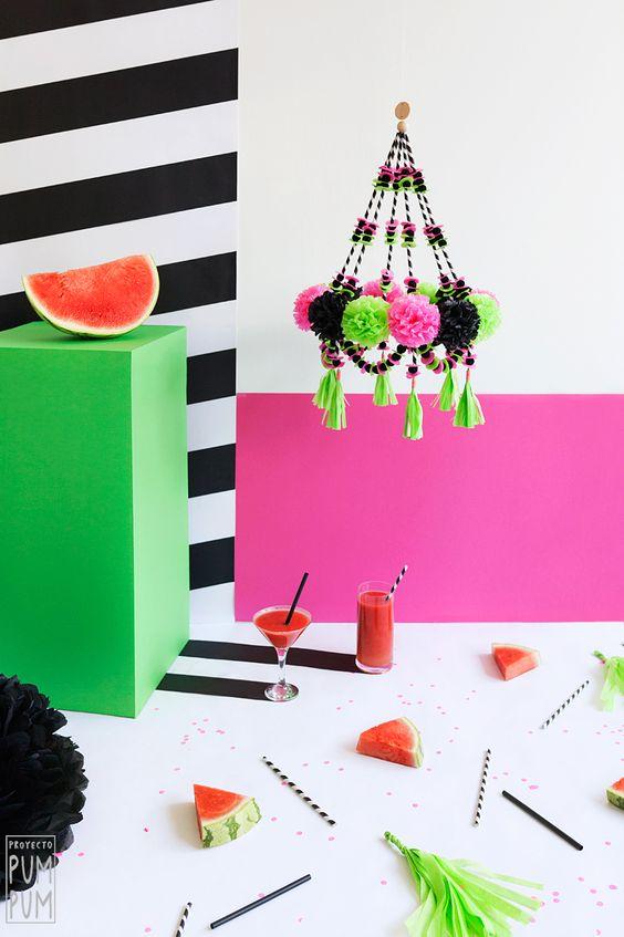 Pajakis, candelabros DIY con mucho color y alegría