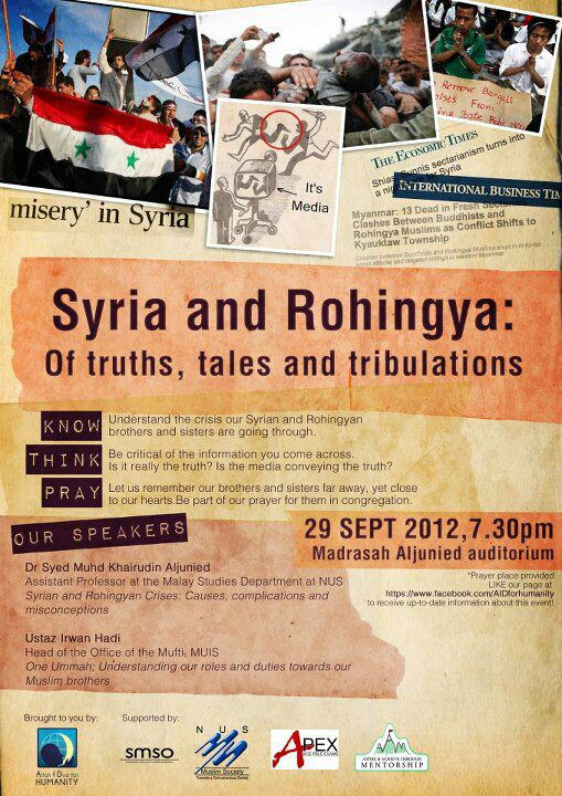 "Event Review: ""Syria and Rohingya: Of Truths, tales and tribulations"""