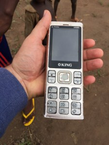 Good to be OKING:It may not be new and super large, but the owner claims this phone has a week-long battery life! WFP/Dominique Ferretti