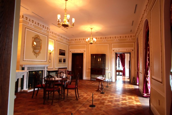 The reception room, where guests used to wait to have an audience.