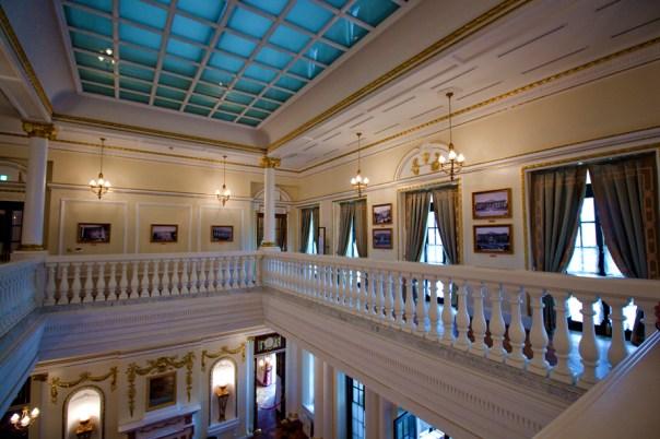 Second floor over the lobby.
