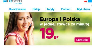 Lebara Mobile Polska i Europa w jednej cenie