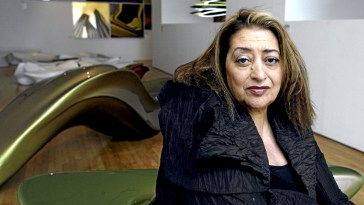 Architect Zaha Hadid poses at the opening of her first exhibition in the U.K., at the Design Museum in Shad Thames, in London's Docklands, Thursday, June 28, 2007. Hadid opened her practice in London in 1980. It is only in the last few years that she has seen it really flourish into an international company with nearly 200 employees. Photographer: Graham Barclay/Bloomberg News