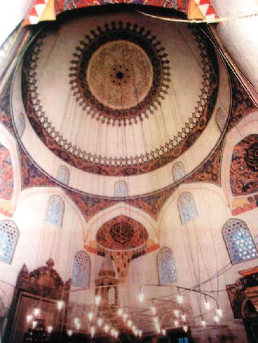The interior of the mosque before its destruction.
