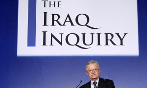 John Chilcot, the chairman of the Iraq Inquiry, outlines the terms of reference for the inquiry and explains the panel's approach to its work during a news conference to launch it at the QEII conference centre in London, Thursday, July 30, 2009. The head of a British inquiry into the Iraq war said Thursday he will call former Prime Minister Tony Blair to testify about the run-up to the conflict, but acknowledged it is unlikely that senior Bush administration officials would give evidence. (AP Photo/Matt Dunham, Pool)
