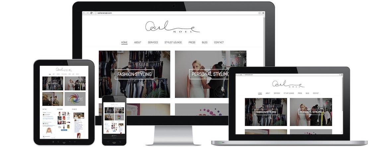 Carlene Noel Website Portfolio Multiple Devices