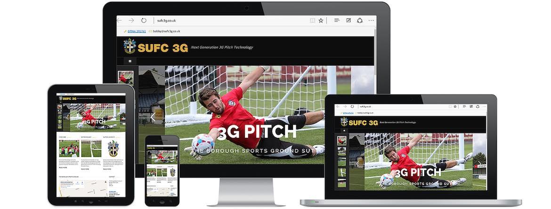SUFC 3G Pitch Website Portfolio Multiple Devices