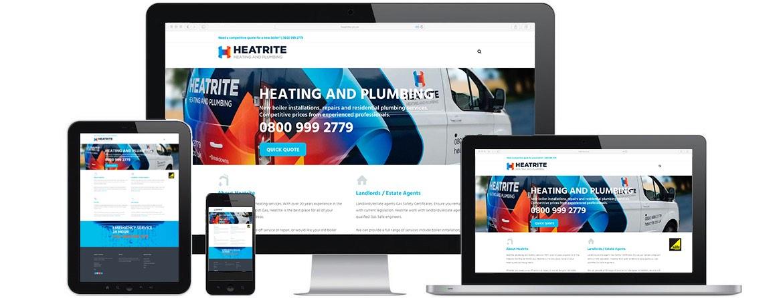 Heatrite Website Portfolio Multiple Devices