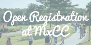 Open Registration at MxCC header