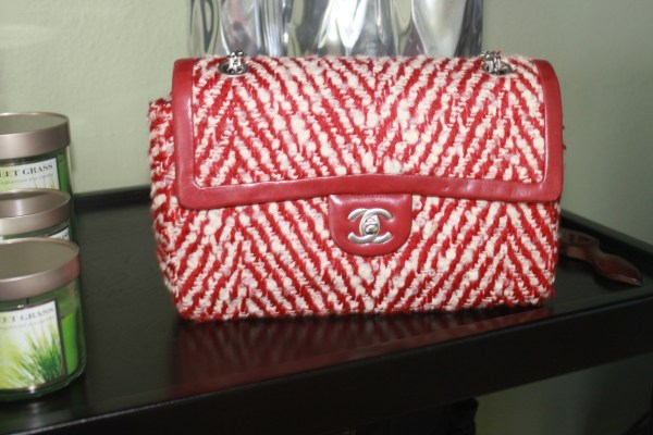 Chanel #13 - Red & White Tweed