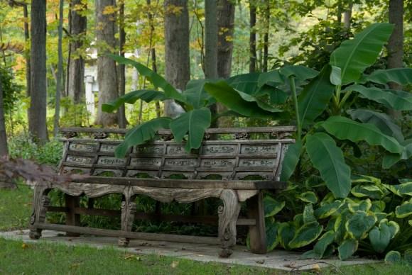 PHOTO: Asian garden bench.