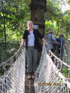 PHOTO: The author standing at a joint in a canopy walk path.