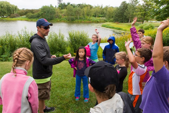 PHOTO: Jim O'Malley teaching Camp CBG at the Chicago Botanic Garden.