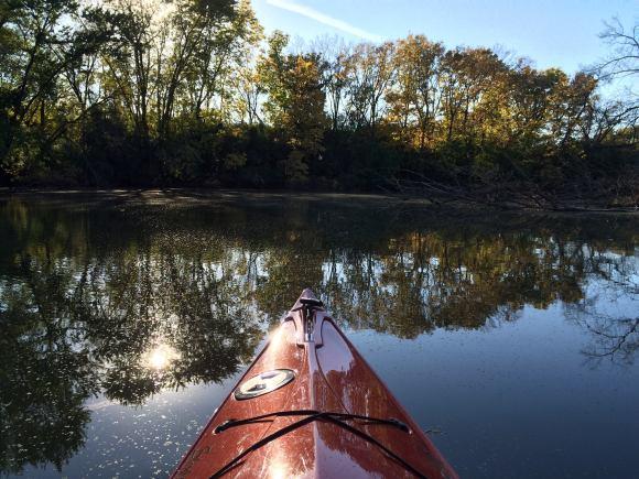 PHOTO: Kayaking the Skokie Lagoons.