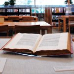 PHOTO: Library book on display.