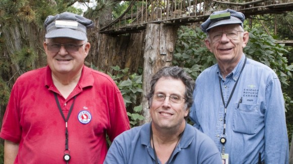 PHOTO: Model Railroad Garden volunteers.