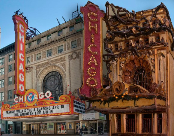 PHOTO: Chicago Theatre & botanical scale model.
