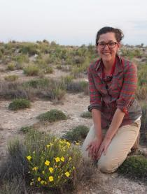 PHOTO: Krissa Skogen poses with primrose in New Mexico.
