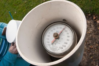 PHOTO: Weather station soil temperature gauge.