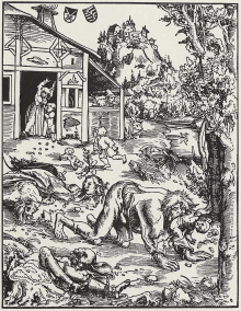 PHOTO: Werewolf illustration circa 1512 by Lucas Cranach the Elder