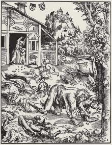 Werewolf illustration circa 1512 by Lucas Cranach the Elder