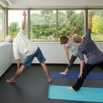 PHOTO: Yoga is in session at the new Learning Campus.
