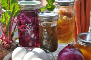 Beets, green tea bags, and orange peels all make gorgeous natural dyes.