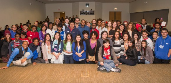 PHOTO: Group photo of past College First participants.