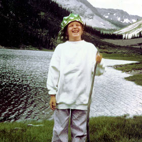 Kay on vacation in Maroon Bells, Colorado, age 7