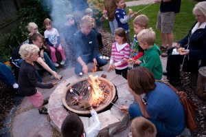 PHOTO: gathered around the fire pit