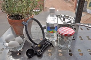 PHOTO: the tools you'll need to create your own egg dyes