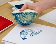 a beautiful blue cabbage print