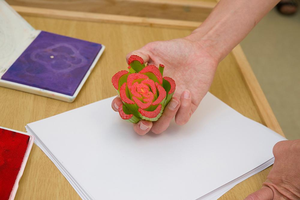 Fruit And Veggie Prints on Celery Crafts
