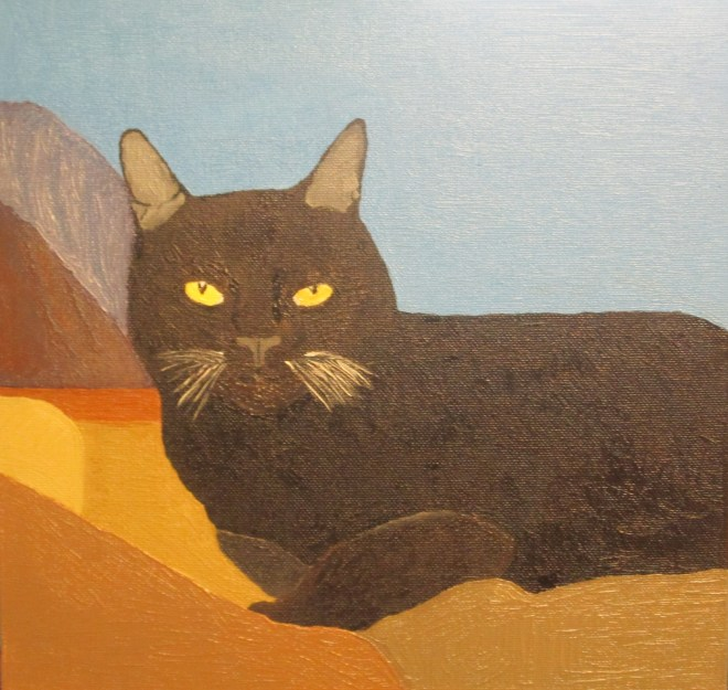 I used oil paints to create an illustration of Irina the cat.