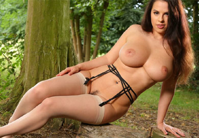 big boobs and stockings cum