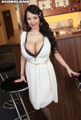 milf wearing sexy dress
