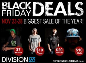 Division26 Clothing – 5 days of BLACK FRIDAY!