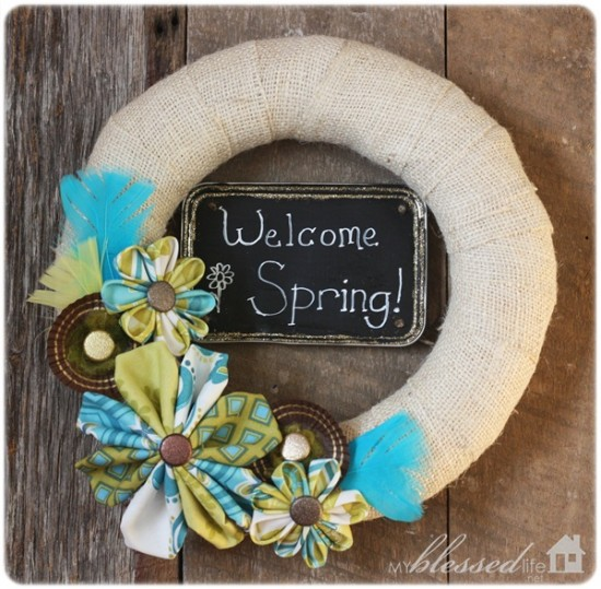 30 Great Spring Wreath And Mantel Ideas