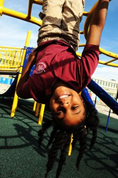 Black Child on Playground