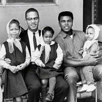 Malcolm X_Muhammad Ali_and children