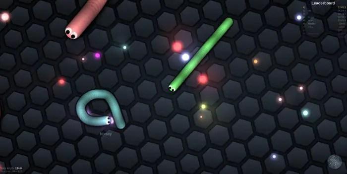 Slither.io le jeu de masse multijoueur sur Chromebook